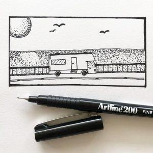 bút lông kim Artline ek-200